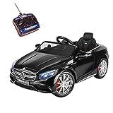 Playkin- Mercedes-Benz S63 Negro Coche Infantil de batería, Color (IFC2001N)