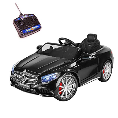 Playkin- Mercedes-Benz S63 Negro Coche Infantil de batería, Color AMG