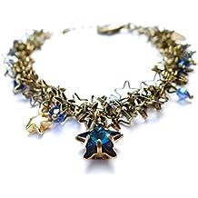 66fa81af18e8a Les Bijoux Acidulés - Bracelet avec étoile et perles en cristal Swarovski  Element Constellation - Bijoux