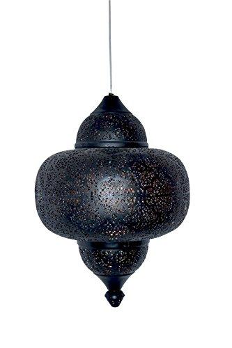 Emporio Arts lzc-526 a-bg matk tikoni Etching Lampe à suspension, fer, noir à l'intérieur or, E27, 40 Watts