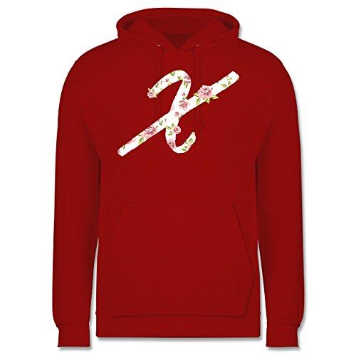 Anfangsbuchstaben - X Rosen - Männer Premium Kapuzenpullover / Hoodie Rot