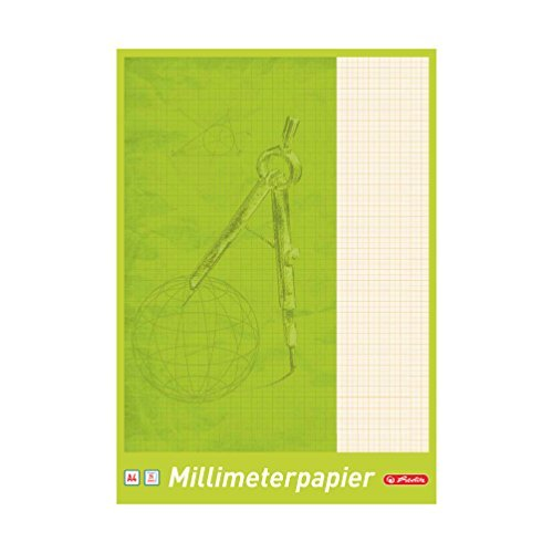 Mm Block (5 Blöcke Herlitz Millimeterpapier / 25 Blatt je Block / DIN A4)