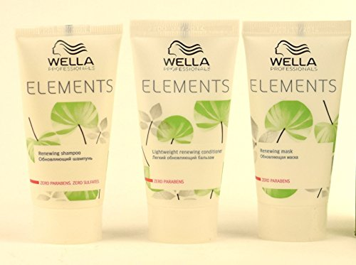 WELLA ELEMENTS RENEWING SHAMPOO + CONDITIONER + MASK 30ML TRAVEL SIZE