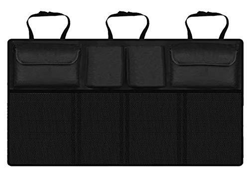 HOGAR AMO Auto Kofferraum Organizer Oxford-Gewebe Auto Netz Rücksitz Organizer mit Klett zu Befestigen Aufbewahrungstasche Gepäcknetz 89.5 x 46cm