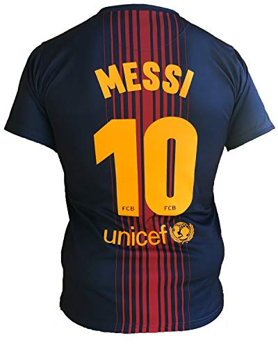 Trikot Fußball Barcelona Lionel Messi 10 Replik Official 2017-2018 Kinder Junge Männer (Größe 2 Jahre)