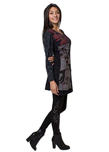 Coton Du Monde - Robe TAPTI Noir Multicolore