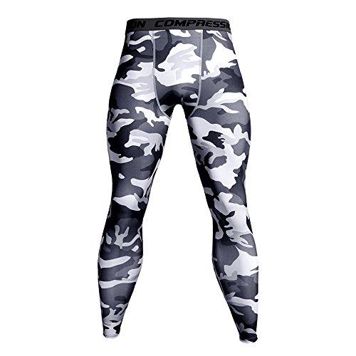 OSYARD Sport Leggings Männer, Laufhose Functional Tight Lange Unterhose Funktionswäsche Strumpfhosen Quick Dry Kompression Hose für Fitness Gym Joggen