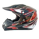 LUHUIYUAN Downhill-Helm für Motorradhelm Off-Road-Rennhelm,c,L