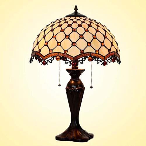 40w Nacht Licht (DSHBB Tiffany Style Table Lampe, romantisch, Weiß Plaid gestapelte Glastische Lichter, Retro Living Room, Schlafzimmer Dekoration Nacht Licht 40W)