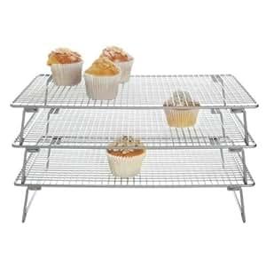 Lakeland - 3 Plaques De Refroidissement Superposables Pour Biscuits & Pâtisserie