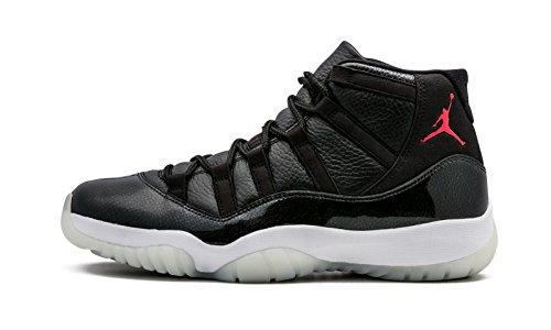 Nike Air Jordan 11 Retro, Chaussures de Sport Homme, Noir, 44 EU Noir / rouge / blanc (noir / rouge gymnase - blanc - anthracite)