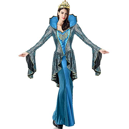 TTWL Halloween Blaue Schlange Königin-Kostüm-Rollenspiel Bühne Kostüme Masquerade (Mumie Der Königin Für Erwachsene Kostüm)