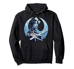 Star Wars Rogue One Jyn Rebel U-Wing Logo Pullover Hoodie