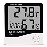Digital LCD Max Min Thermometer Hygrometer Clock Weather Station. Very large numbers, easy