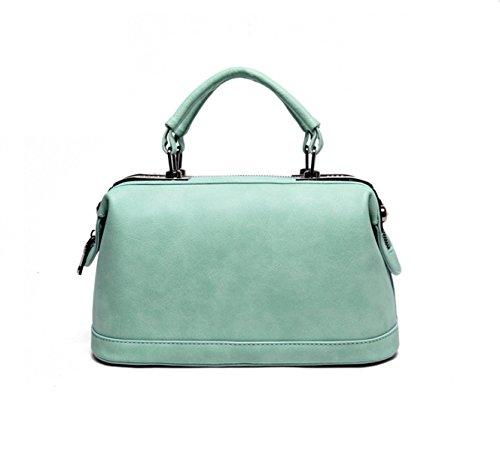 PACK Europa Und Die Vereinigten Staaten Große Taschen Soft Handles Handtaschen Pu Leder Eimer Tasche Schultertasche Handtasche,A:Green A:Green