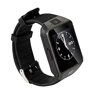 Intex Aqua 3G Neo Compatible Bluetooth Smartwatch (Black) With Camera & Sim Card Support & Supporting Apps Like Twitter, Whats App, Facebook, Touch Screen Multilanguage Android/IOS Mobile Phone Wrist Watch Phone with activity trackers and fitness band features by Mobilefit