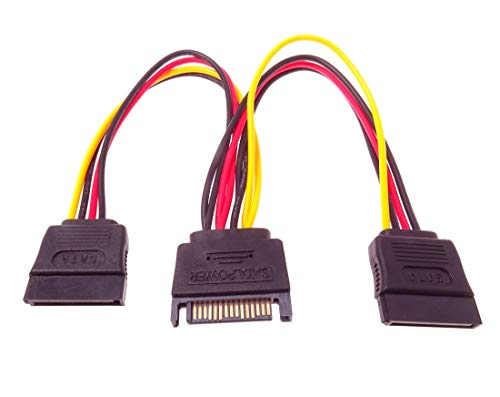 PremiumCord Stromkabel für HDD Serial ATA - Koppler m/ 2xF 16cm -