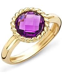 Mujer-ring Miore 9 Quilates (375) oro Cuarzo Amatista 1,5 T.C, cuarzo lila talla redonda - MNA9026R
