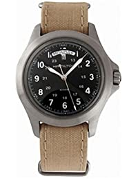 Hamilton H64451333 - Reloj analógico de caballero de cuarzo con correa textil beige - sumergible a 50 metros