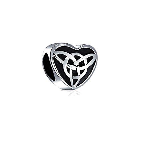 Akki, perline (charm) a forma di cuore per bracciale, collana, in acciaio inossidabile, gioielli per bracciale (charm) in argento con strass in zircone originale, amore, charm, perlina e acciaio inossidabile, colore: herz022, cod. akc-004-259-022