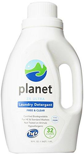 Planet 2x HE Ultra Laundry Liquid Detergent, 32-Loads, 50 Ounce
