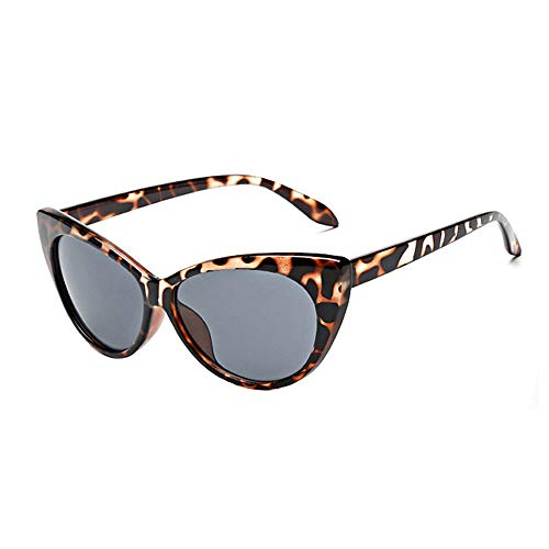 REALIKE--Sonnenbrillen für Damen Leopardenmuster Verspiegelt Katzenauge Brille Sonnenbrille Mode Super Coole Damenbrillen Frauen Schwarz Cat Eye Sunglasses Travel Eyewear