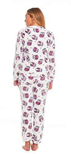 Aumsaa Damen Schlafanzug eule