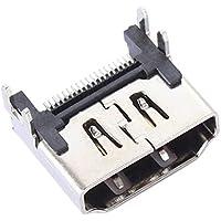 Wafalano Interfaz de zócalo de Puerto HDMI Anschluss für PS4 Konsole, Silber Farbe Interfaz de zócalo de Puerto HDMI Anschluss Reparatur Ersatz für Playstation 4 PS4 Konsole Großhandel Digital