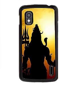 PrintVisa Lord Shri Shiv Shakar High Glossy Designer Back Case Cover for LG Google Nexus 4