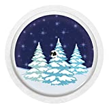 2x Winterlandschaft - Sticker Aufkleber für FreeStyle Libre Sensoren