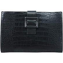 705c7c67414e50 PACO TORA Clutch-Taschen PU-Leder Handtasche Damen Wasserdicht  Umschlagtasche mit Krokodilkorn - Städtische