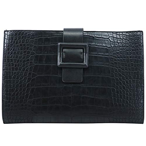 Sammlung Mit Reißverschluss, Kupplung Brieftasche (PACO TORA Clutch-Taschen PU-Leder Handtasche Damen Wasserdicht Umschlagtasche mit Krokodilkorn - Städtische Safari-Sammlung)
