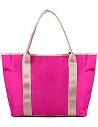 Tonwhar Large Capacity Multi-functional Multi-pocket Diaper Bag (Rose)