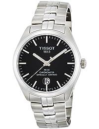 Tissot Men's PR 100 39mm Steel Bracelet & Case Sapphire Crystal Quartz Black Dial Watch T101.451.11.051.00