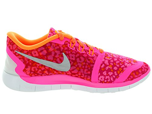 Nike Youths Free 5.0 Print Mesh Trainers Pink
