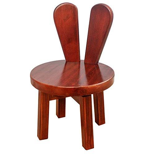 ZXQZ dengzi Hocker Massivholz Hocker 25X25X46CM Einfaches Wohnzimmer Home Kinder Zurück Zurück Hocker Sofa-Stuhl (Farbe : B)