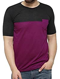 Vivi Presents Roundneck Cotton Slimfit T-Shirt for Men's with Pocket