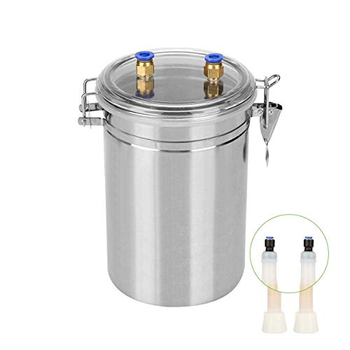 GRASSAIR Elektro-Maschine Rinderwatschen-Ziegen Milchmaschine Milker-Pulsator inklusive Edelstahl-Buchse 2L Free Tube Pinsel,Cow -