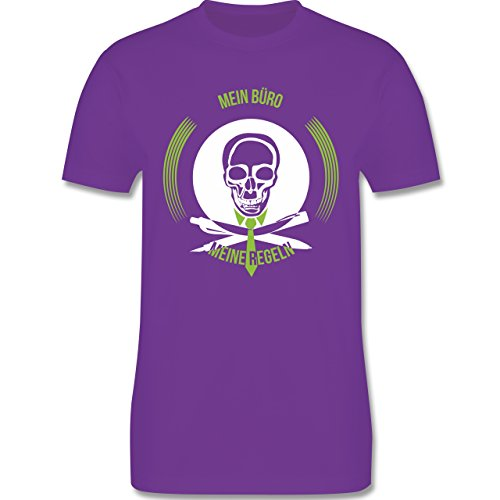 Statement Shirts - Mein Büro meine Regel - Herren Premium T-Shirt Lila