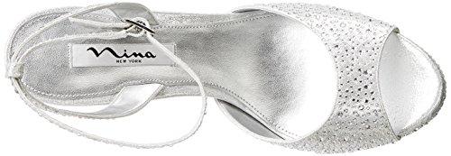 Nina Seville Synthétique Talons Compensés White Reflectiv