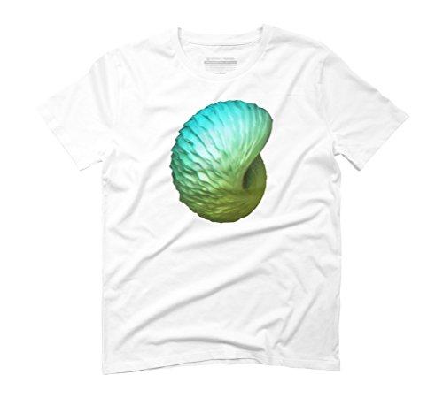Anaglyph Fibonacci Men's Graphic T-Shirt - Design By Humans White
