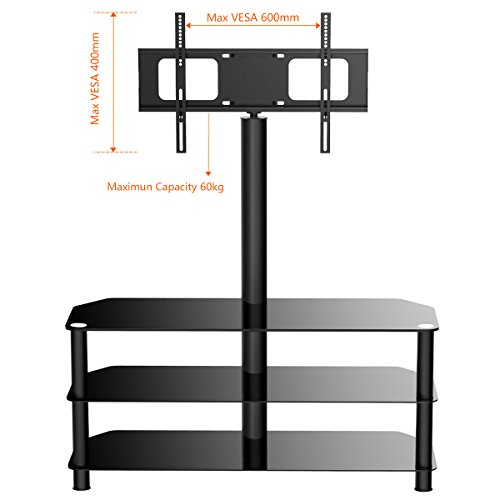 1home Cantilever Glass TV Stand Search Furniture