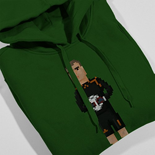 Pixel Jose Luis Chilavert Women's Hooded Sweatshirt Bottle Green