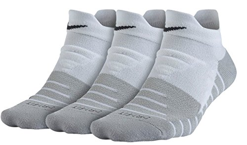 Nike Damen 3 Paar Dry Cushion Low Trainingssocken, White/Wolf Grey/Anthracite, S (EU 34-38) (Wolf-sport-socken)