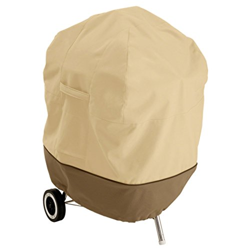 Classic Accessories 73422 Veranda Kettle-Style Barbecue Grill Cover Funda para Barbacoa Redonda, Gris...