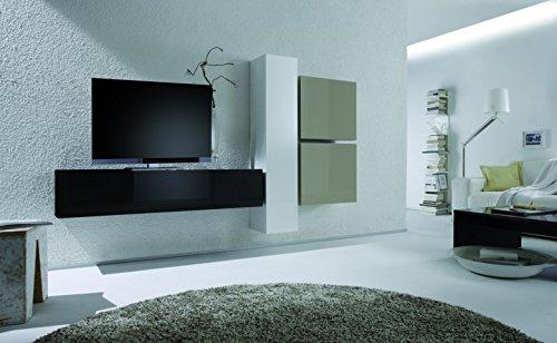Wohnwand ausgesetzt mit Sicherung Cubi schwarz schwarz weiß Seil