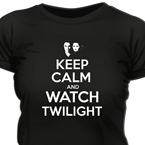 Creepyshirt - KEEP CALM AND WATCH TWILIGHT WOMAN T-SHIRT - S