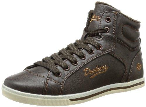 Dockers by Gerli 317422-133010, Mädchen Sneaker, Braun (chocolate), EU 33