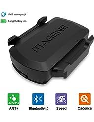 OUTERDO Geschwindigkeits-Trittfrequenz Sensor für Fahrrad,Geschwindigkeitssensor mit ANT+ und Bluetooth 4.0,Geschwindigkeit und Trittfrequenz Sensor für GPS-Codetabelle und Fahr-APP