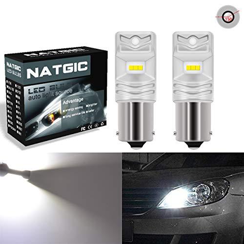 NATGIC BAU15S PY21W 7507 Ampoules LED blanc xénon 1700LM CSP Puces pour feu de stop arrière Feu de position latérale, 12V-24V (lot de 2)